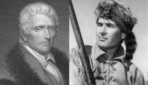 One of these men was Daniel Boone. The other one sold a lot of hats.