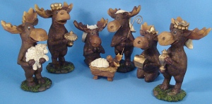 Seriously? A moose nativity set?