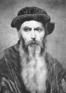 With a beard this cool, Johannes Gutenberg would be welcome in any hipster church.