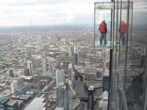 This glass box is a ledge om the side of the Willis Tower, 1,353 feet about Chicago. In spite of how it looks, it is a firm foundation to stand on.—and so is Gods Word.